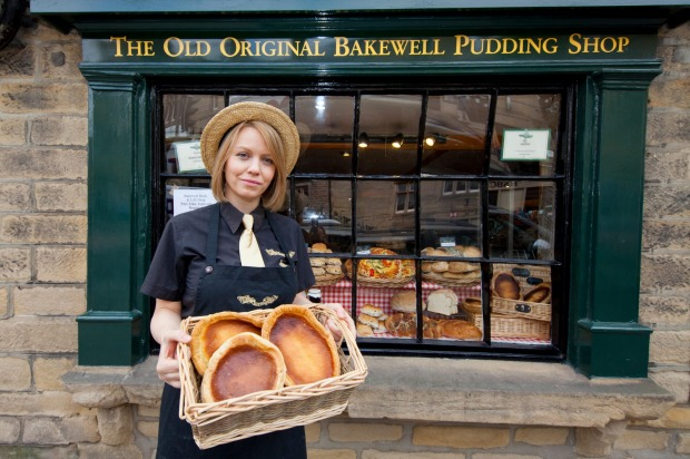 BAKEWELL, ENGLAND: The Bakewell tart – with its shortcrust pastry, raspberry jam, frangipane and flaked almond topping ...
