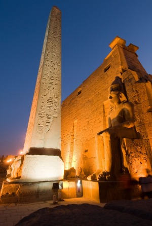 The remaining obelisk at Luxor.