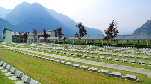 The cemetery at Longarone.