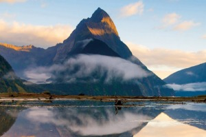 See the famous Mitre Peak in Milford Sound on a cruise around New Zealand.