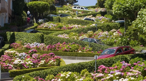 Lombard Street, San Francisco: currently free to drive.