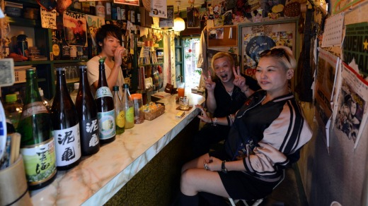 Three's a crowd in Shinjuku's tiny bars.