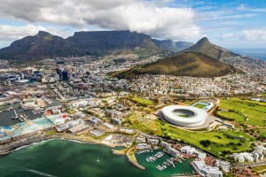 Beautiful Cape Town from above.