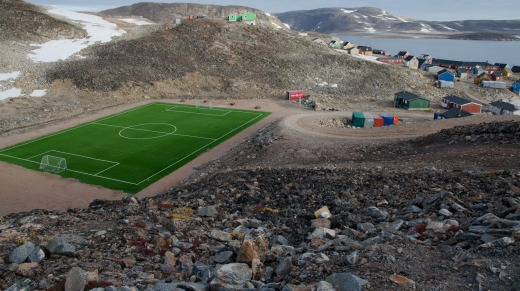 The greenest place in East Greenland is in Ittoqqortoormiit.
