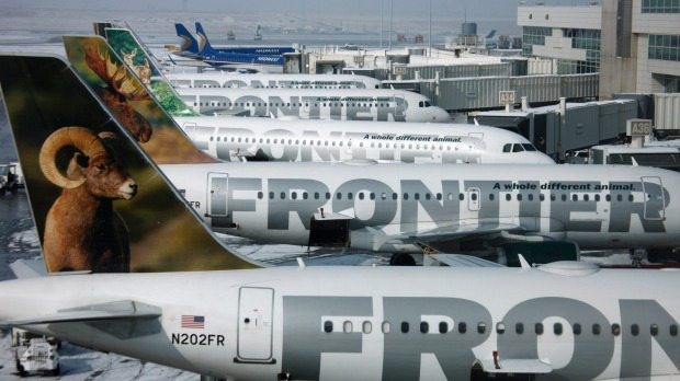 """Denver-based Frontier is one of America's self-proclaimed """"ultra-low-cost""""  carriers. Which means it charges for ..."""