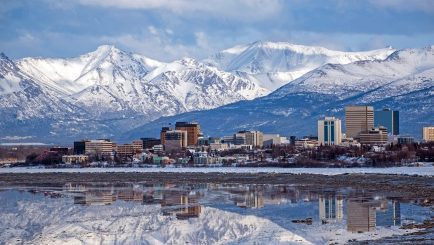 Anchorage, Alaska, and it's stunning backdrop.