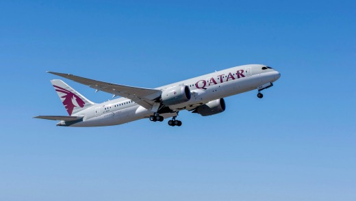 Qatar Airways Boeing 787 Dreamliner, one of 30 such craft in its fleet.