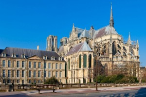 Notre-Dame de Reims and Palais du Tau (Tau Palace), which is listed as World Heritage by UNESCO .