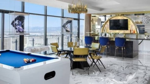 A view of one the Richmond Penthouse suites which you can only stay in with a minimum casino buy-in of $A1.28m.