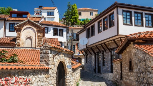 Enjoy moments of content in the old city of Ohrid, Macedonia.