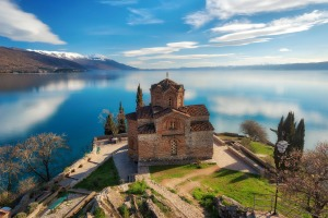 Church of St John the Theologian at Kaneo, Ohrid.