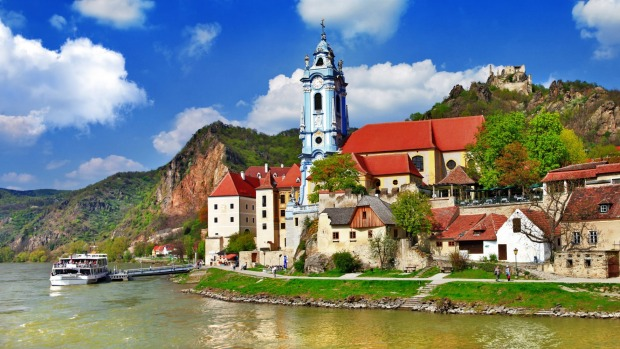 River cruising allows you to float into charming villages that ocean liners can never reach, such as Durnstein, on the ...