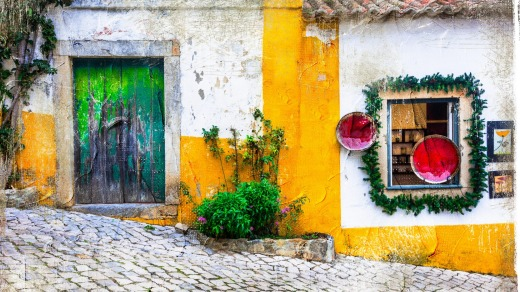 The old streets of Obidos.