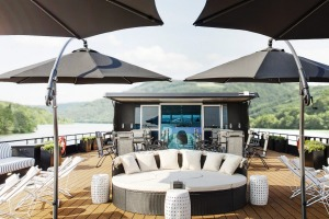 The A ship is an old Uniworld vessel that's been stylishly refurbished to appeal to a younger market.