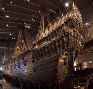 The Vasa seen from the stern.