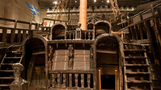 Upper deck (towards the stern) of the Vasa.