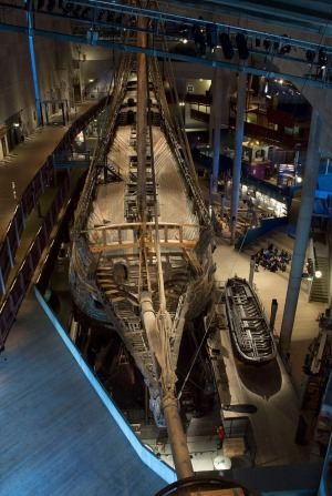 The Vasa seen from the upper floors.