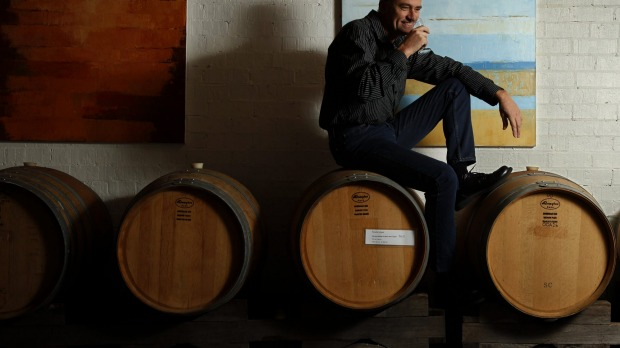 Owner of Inner City Wine Makers Rob Wilce. He blends and ferments his wine in the heart of Wickham.
