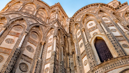 The ancient Cathedral Church in Monreale, Sicily.