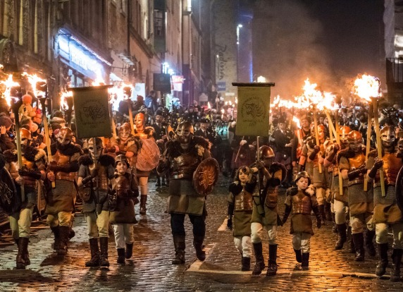 Up Helly Aa, Scotland: On the last Tuesday of every January, Shetland celebrates its Nordic heritage by getting everyone ...