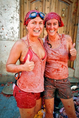 La Tomatina, Spain: Held in the town of Buñol near Valencia on the last Wednesday of August, this ridiculous waste of ...