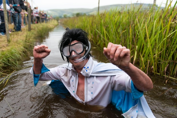 The World Bog-Snorkelling Championships, Wales: On the Monday of the Bank Holiday weekend at the end of August, some of ...