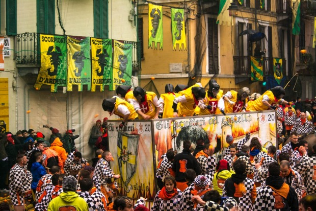 The Battle of the Oranges, Italy: Take La Tomatina, switch tomatoes for oranges and throw in a whole lot of history, and ...