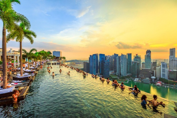 INFINITY POOL, MARINA BAY SANDS, SINGAPORE Even today, eight years after it opened, Marina Bay Sands still looks so ...
