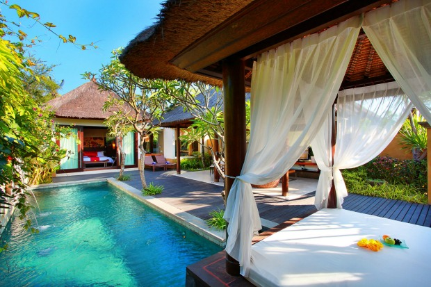 PRIVATE-VILLA PLUNGE POOL AT MGALLERY AMARTERRA VILLAS, BALI Float on your back in the water, listen to the breeze ...