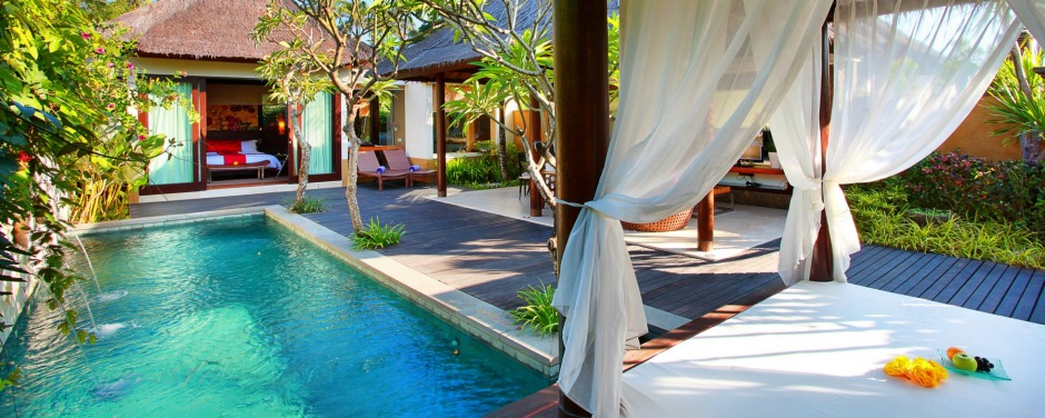 MGALLERY AMARTERRA VILLAS, BALI The vivid turquoise pool is set in a private courtyard beside a thatched pavilion. If ...