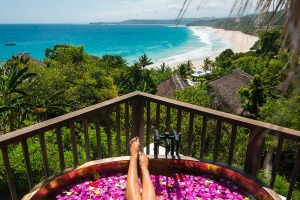 Take in expansive views of the Indian Ocean and the sweep of jungle-flanked beach from the private deck of your villa at ...