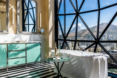 BATHTUB AT CAPE TOWN'S THE SILO HOTEL It is as if you are suspended within the sweeping bowl of Cape Town's Table ...