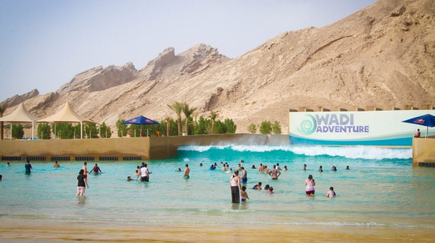 Wadi Adventure is a water park near the city of Al Ain, a desert outpost on the UAE-Oman border about a two-hour drive ...
