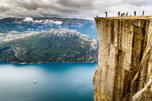 A certain bravery is required to scramble up to Pulpit Rock, named as one of the world's most spectacular viewpoints by ...