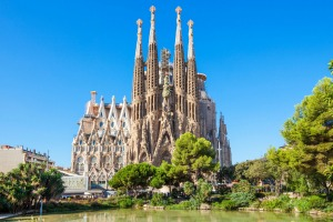 Barcelona's La Sagrada Familia church, designed by Antoni Gaudi.
