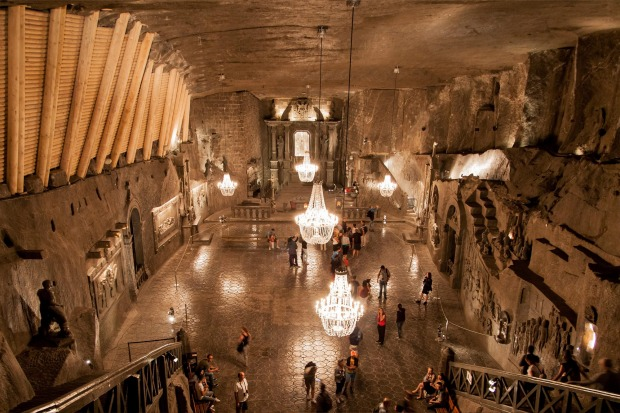 Wieliczka Salt Mine, Poland: Salt was once so valuable that it was used as currency – the word 'salary' is derived from ...