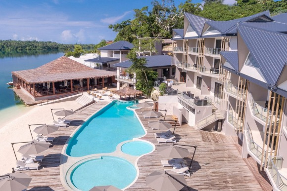 The new beachfront Ramada Resort Port Vila.