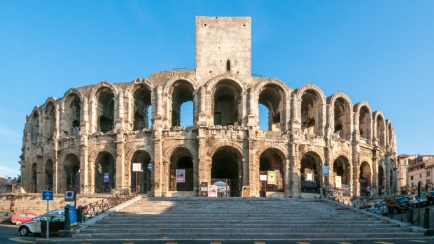 The Roman amphitheatre in Arles.