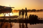 E1WTKC family on float plane dock, along Red River, Manitoba, Canada tra21-sixbestManitoba