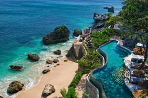 The resort is home to an astonishing 12 swimming pools but those in search of serenity should head down to the beach.