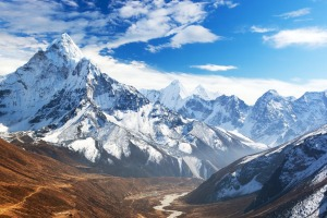A view of Ama Dablam on the way to Everest base camp.
