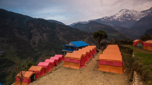 A World Expeditions permanent campsite.