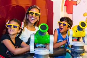 Toy Story Mania, a 4D shooting ride, is totally addictive.