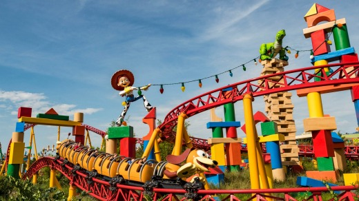 The Slinky Dog Dash at Toy Story Land.