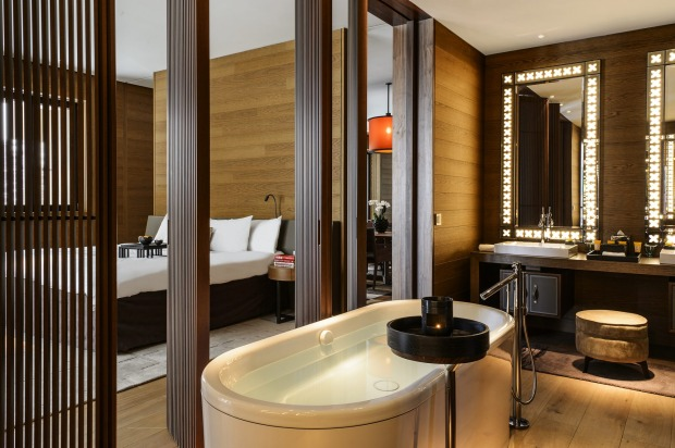 POST-SKI BATH, THE CHEDI ANDERMATT, SWITZERLAND Is anything more blissful than the moment you sink your muscle-aching, ...
