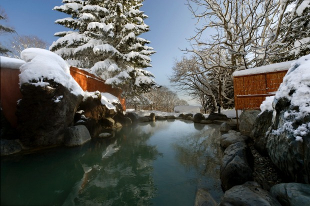 LATE NIGHT ONSEN AT THE GREEN LEAF HOTEL, NISEKO, JAPAN Niseko's 200-room Green Leaf Hotel is best known for combining a ...