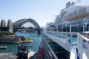 The Majestic Princess in Sydney Harbour.