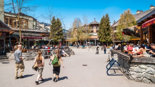 Whistler is also known as ''Whistralia'' for the large number of Australians who work there during the ski season.