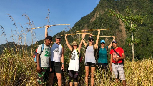The itinerary was filled with yoga and fitness training, including daily hikes.
