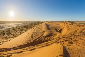 The Big Red sand dune in the Simpson Desert near Birdsville.